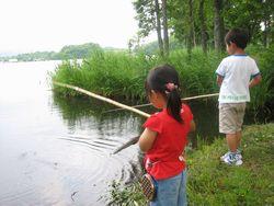 曽原湖で魚釣り!(無料)